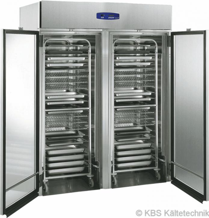 friulinox by KBS Doppeltüriger Einfahrkühlschrank Euronorm für 400 x 600 mm Backbleche