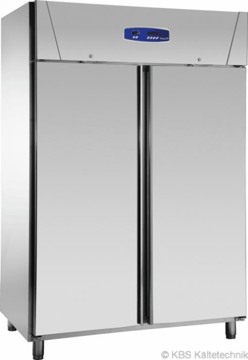 KBS Edelstahl Tiefkühlschrank TKU 1414 mit Beleuchtung