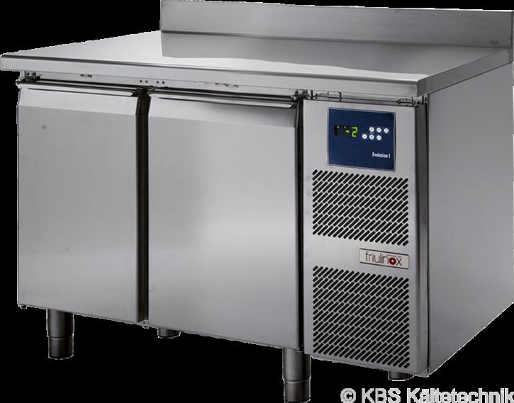 friulinox by KBSKühltisch mit Maschine, 2 Türen, mit Arbeitsplatte und 100mm Aufkantung