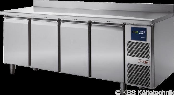 friulinox by KBSKühltisch mit Maschine, 4 Türen, mit Arbeitsplatte und 100mm Aufkantung
