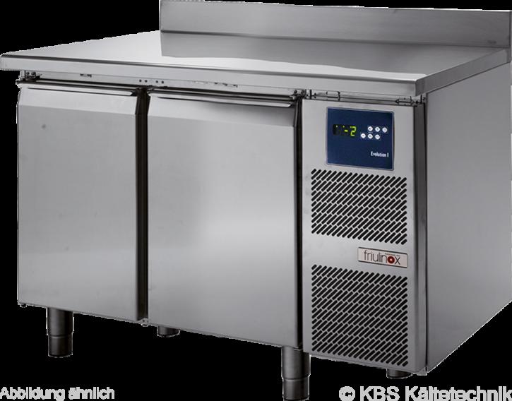 friulinox by KBSKühltisch für Zentralkühlung (ohne Maschine), 2 Türen, mit Arbeitsplatte und 100mm Aufkantung