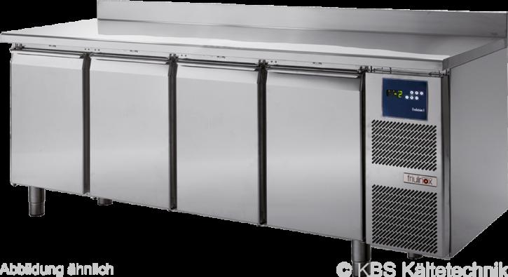 friulinox by KBSKühltisch für Zentralkühlung (ohne Maschine), 4 Türen, mit Arbeitsplatte und 100mm Aufkantung