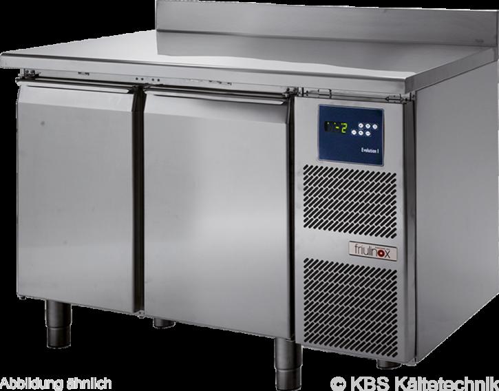 KBS friulinox by KBSTiefkühltisch mit Maschine, 2 Türen, mit Arbeitsplatte und 100mm Aufkantung