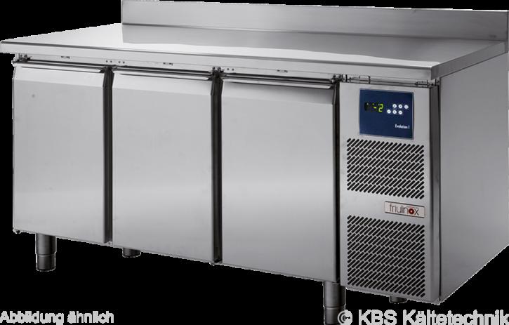 KBS friulinox by KBSTiefkühltisch mit Maschine, 3 Türen, mit Arbeitsplatte und 100mm Aufkantung