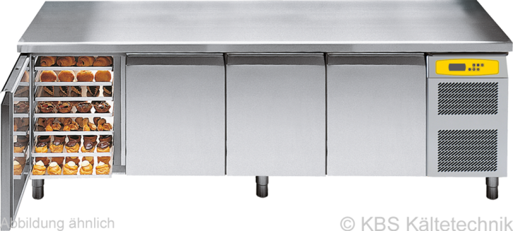 friulinox by KBS Bäckereikühltisch mit Maschine,4 Türen, ohne Arbeitsplatte