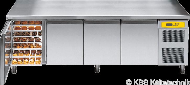 friulinox by KBS Bäckereikühltisch mit Maschine,4 Türen, mit Arbeitsplatte