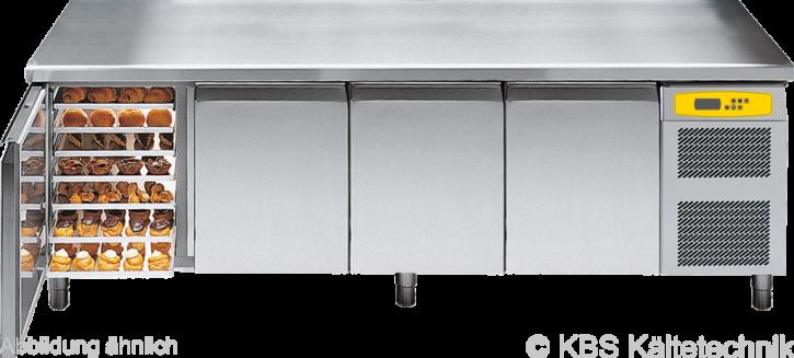 friulinox by KBS Bäckereikühltisch mit Maschine,4 Türen, mit Arbeitsplatte und 100mm Aufkantung