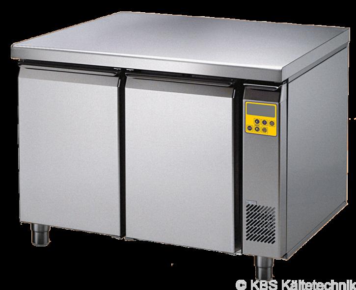 friulinox by KBS Bäckereikühltisch für Zentralkühlung (ohne Maschine), 2 Türen, mit Arbeitsplatte und 100mm Aufkantung