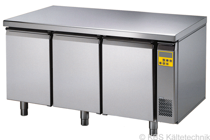 friulinox by KBS Bäckereikühltisch für Zentralkühlung (ohne Maschine),3 Türen, mit Arbeitsplatte