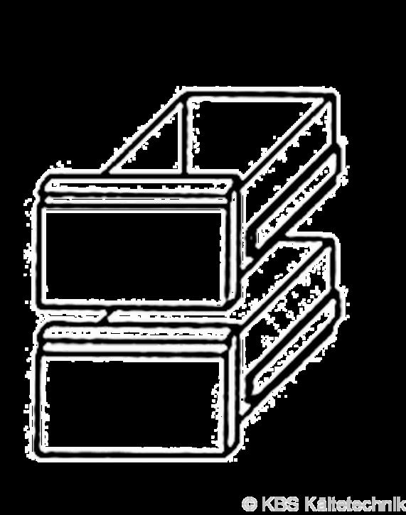 KBS Bäckereikühltischschubladensatz 1/2 +1/1