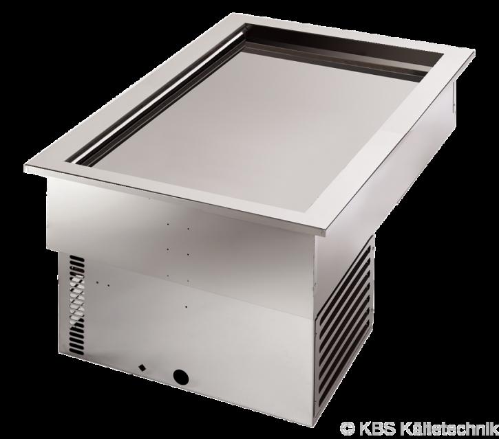KBS Armonia Bäckerei-Umluft-Einbaukühlwanne mit Maschine für 2x 600 x 400 mm Backbleche