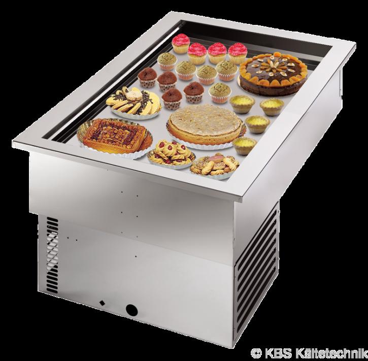 KBS Armonia Bäckerei-Umluft-Einbaukühlwanne mit Maschine für 3 x 600 x 400 mm Backbleche