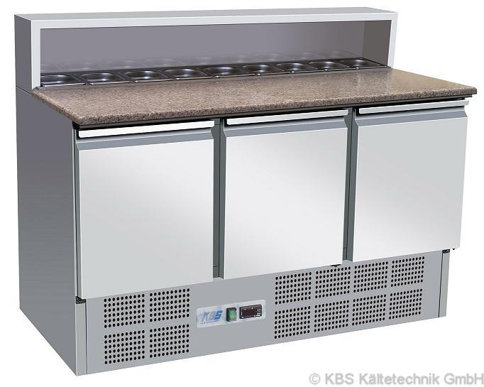 KBS Pizzakühltisch / Belegstation mit 3 Türen