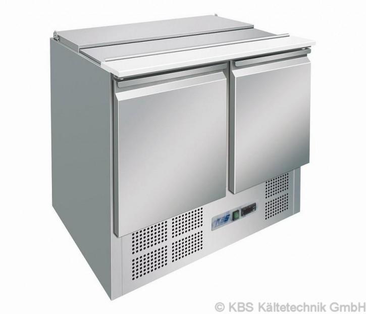 KBS Saladette mit Isolierung 45mm mit zwei Türen für 2x GN1/1 und 3x GN1/6