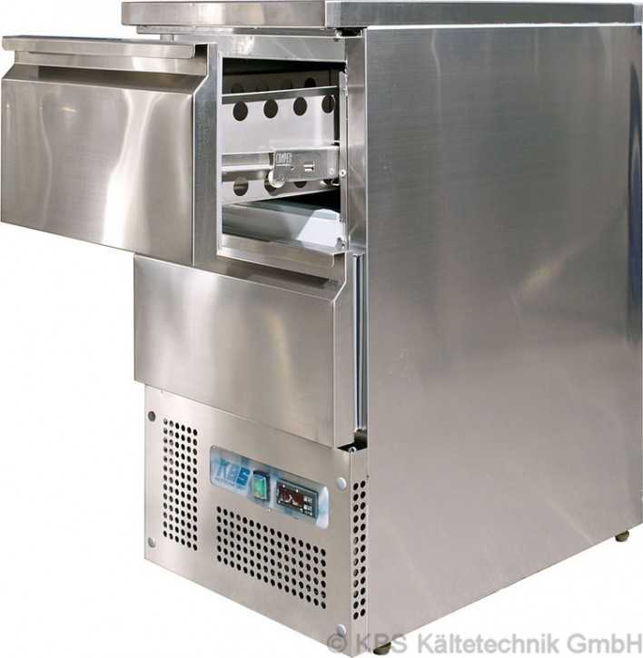 KBS Kühltisch mit 2 halben Schubladen