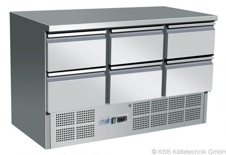 KBS Kühltisch mit 6 Schubladen
