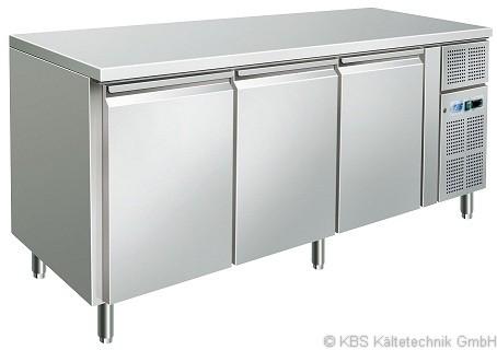 KBS Kühltisch CNS mit 3 Türen (GN 1/1)