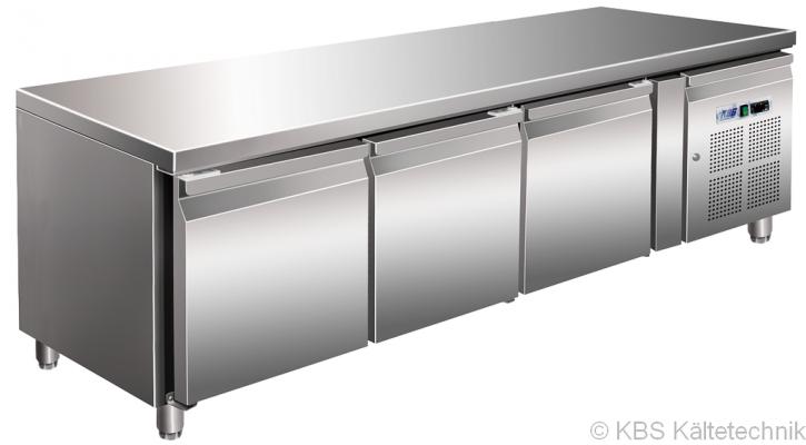 KBS Kühltisch CNS mit3 Türen (GN 1/1)