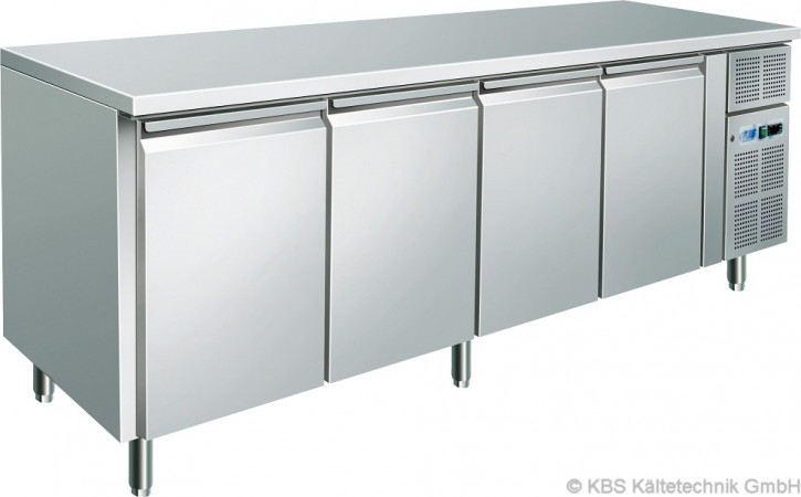 KBS Kühltisch CNS mit 4 Türen (GN 1/1)