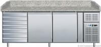 KBS Pizzakühltisch mit 2 Türen und 7 ungekühlten Teigschubladen