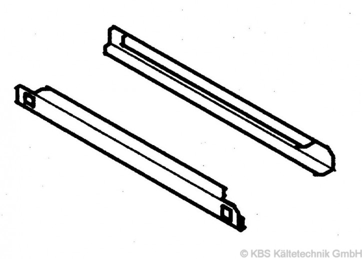 KBS Auflagenschienenpaar für KTM Serie, Saladetten und KU 355