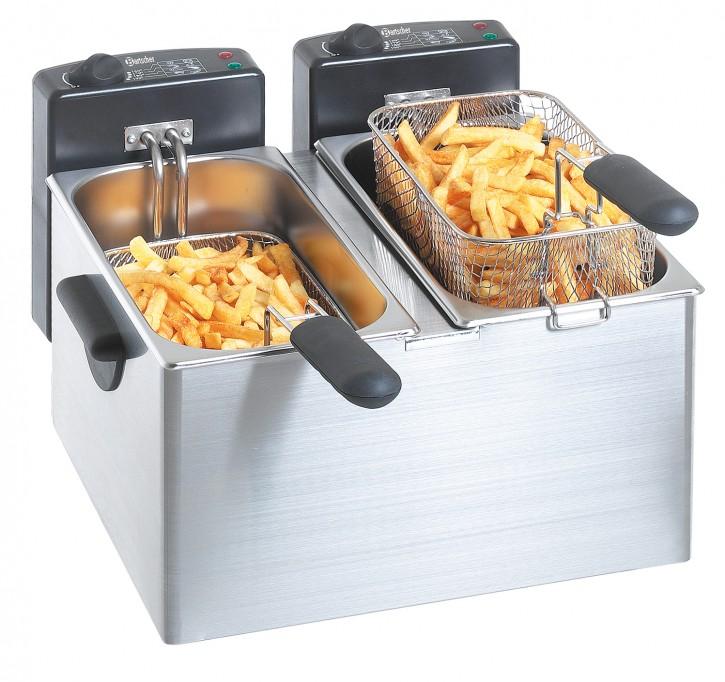 "Bartscher Doppel-Fritteuse 2 x 4 Liter ""MINI III"