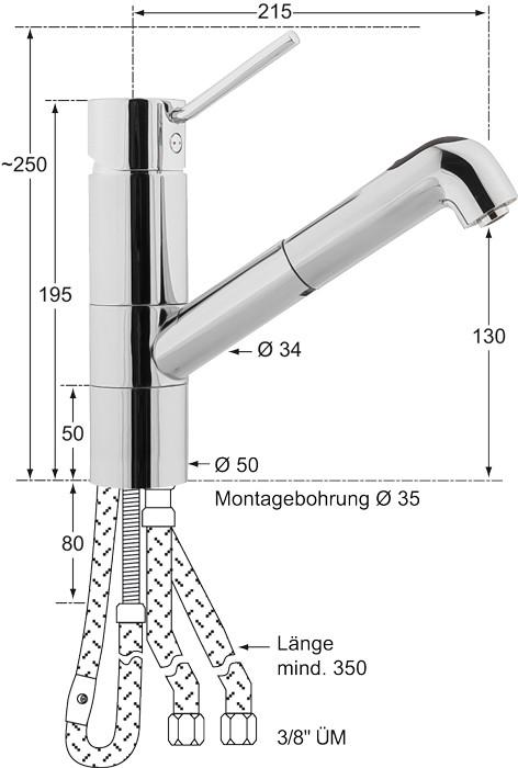 Knauss xanaHebelmischer-Spültischbatterie 1/2