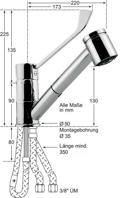 Knauss lina Hebelmischer-Spültischbatterie 1/2