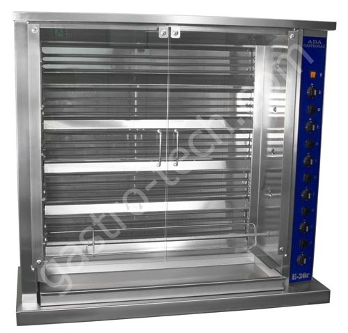 Elektro Hähnchengrill für 18 Hähnchen 400 V mit Isolation