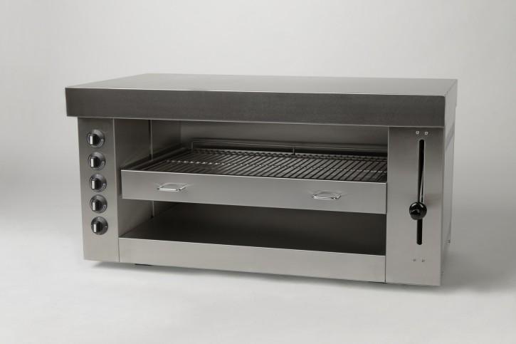 Elektro Salamander B 1000 x T 520 x H 450 mit 8 kw, 4 Heizzonen, stufenlos höhenverstellbar