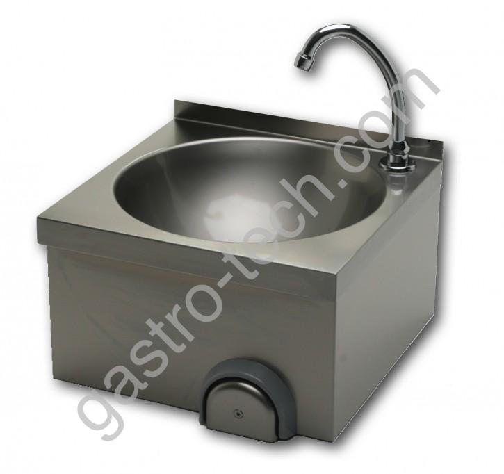 Handwaschbecken 400 x 400 mit Kniebedienung