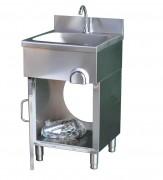 Handwaschbecken 500 x 500 x 850 mit Kniebedienung als Standgerät