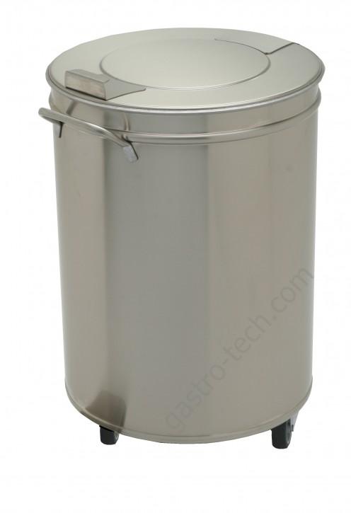 Edelstahl Abfalleimer 50 Liter